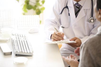病院でもらった薬で治療する